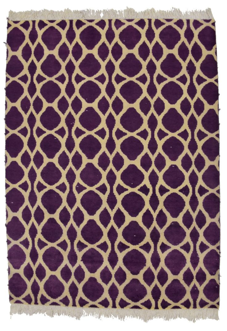 6x8 Purple Modern Area Rug