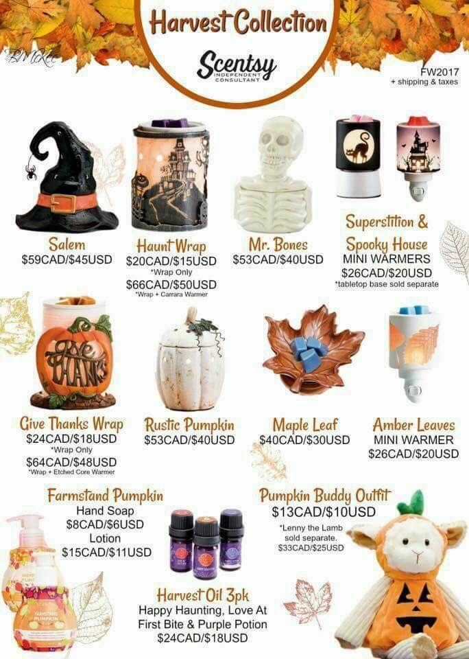 My haves!! Our new harvest warmers! www.kimmills.scentsy.us