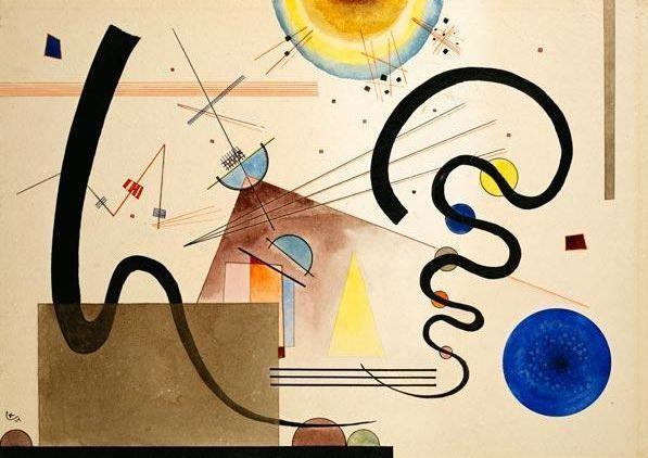 "Wassily Kandinsky - ""Two Movements"", 1924"