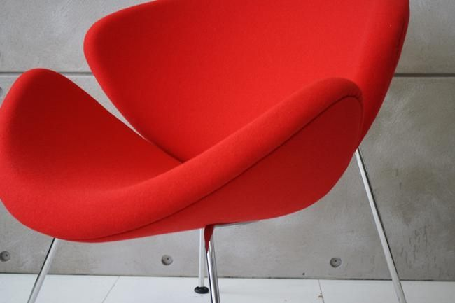 F437 Artifort Orange Slice fauteuil rood hoog model
