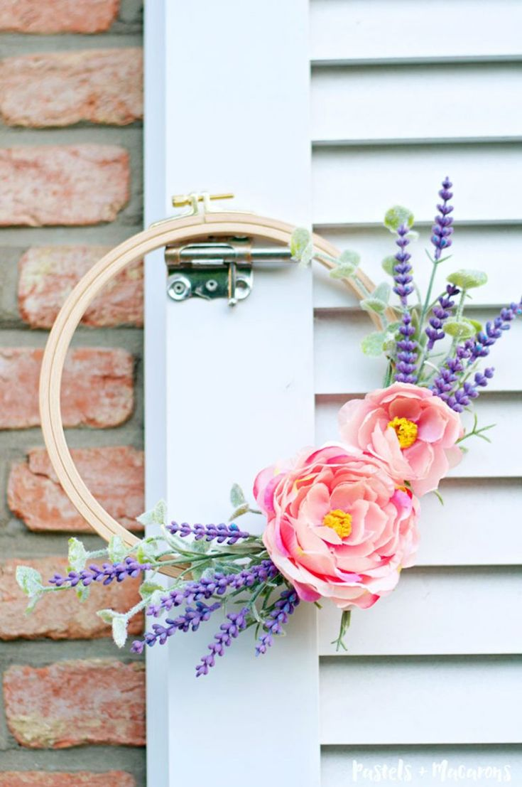 128 best the best of pastels and macarons images on pinterest lavender wreath diy tutorial 10 minute craft idea