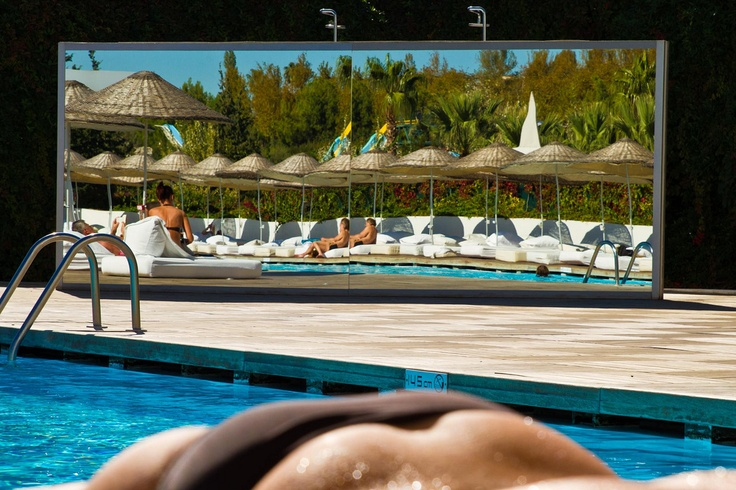 Hill Side SU Hotel in Antalya, Turkey - at the pool