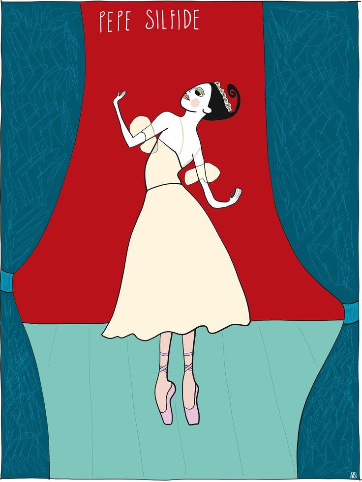 Illustration of Pepe #sylphide #dancevariation by Monica Brini