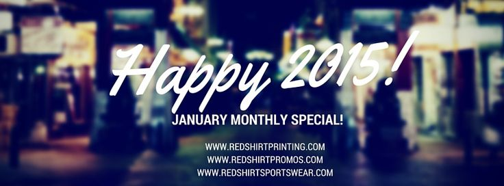 January Monthly Special at www.redshirtprinting.com!