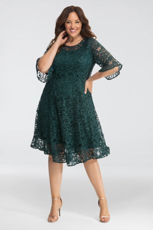 ... and figure-flattering princess seaming take a classic shift dress into  fancy-night-out territory. Designed exclusively for plus-size figures. 0d70d8bc197f