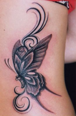 484 best images about TATTOOS on Pinterest | Upper back ... |Tribal Butterfly Tattoos On Hip