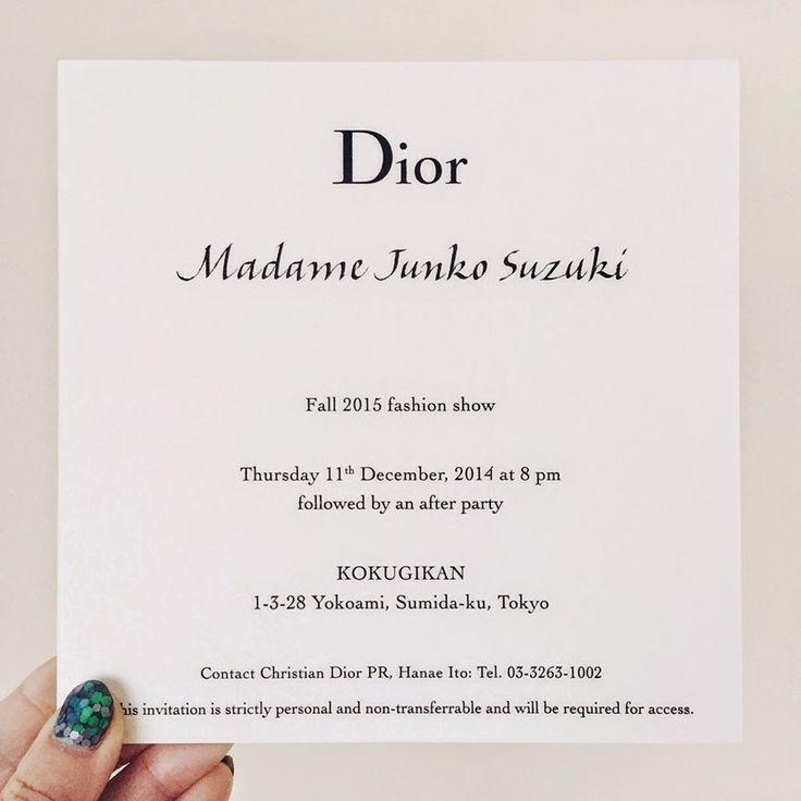 dior invitation - Google 検索