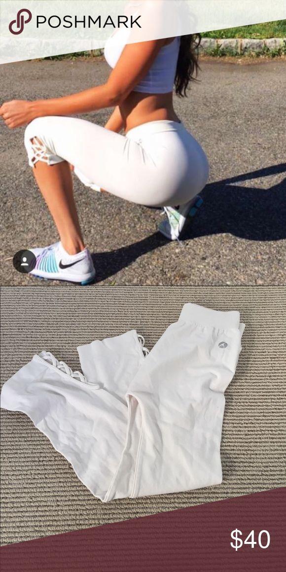 White Capri Leggings Avocado white Capri leggings. Super soft and cute for summer! avocado Pants Leggings