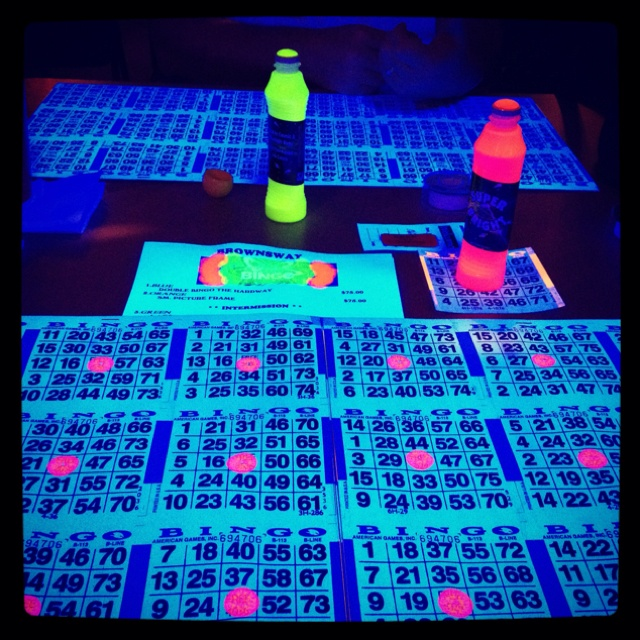 Blacklight Bingo PartyCamping GamesCarnival