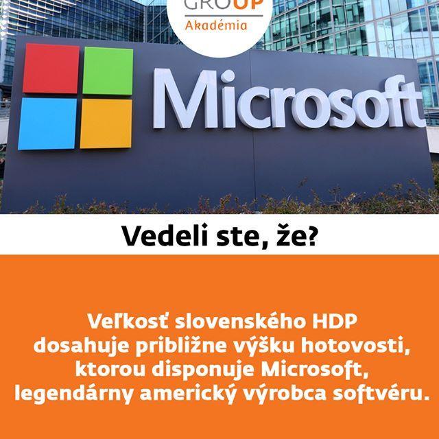Vedeli ste že?  #zfp #zfpa #zfpakademia #HDP #Microsoft #vedelisteže #hotovosť #cash