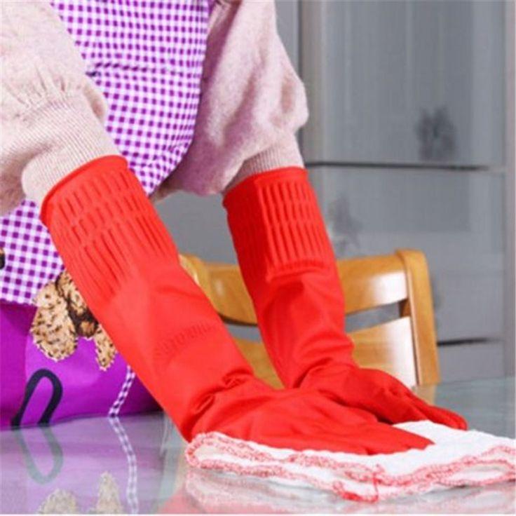Nieuwe Latex Dish Schoonmaken Wassen Lange Handschoenen Huishouden Keuken Elleboog Handschoenen PY1 LY3(China (Mainland))