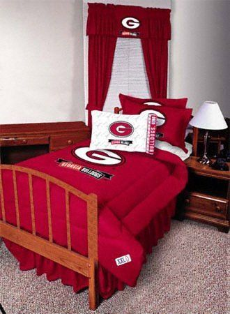 Georgia Bulldogs Twin Jersey Comforter by Sports Coverage   79 99  100   polyester fill with. 28 best Georgia Bulldogs Caves and Rooms images on Pinterest