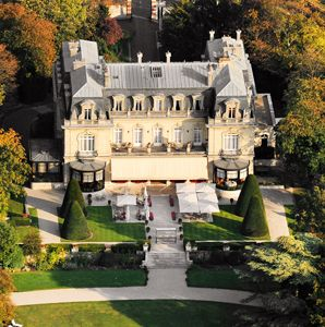 Les Crayeres - chateau, historic, castle, champagne, exterior, aerial, hotel, country, inn