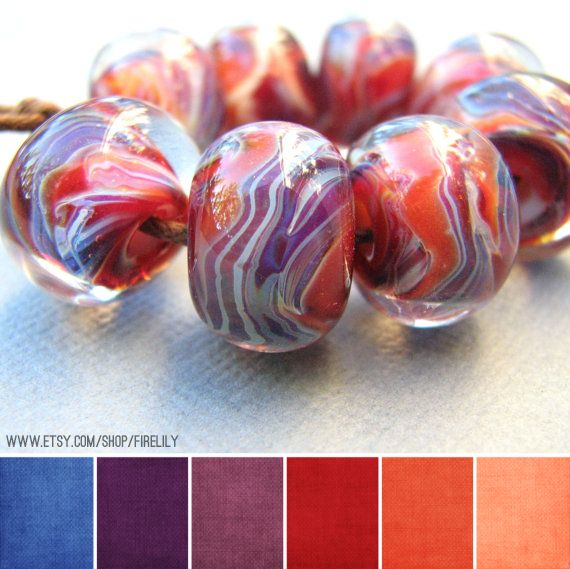 Art Bead Palette :: Fire Lily Glass Studio