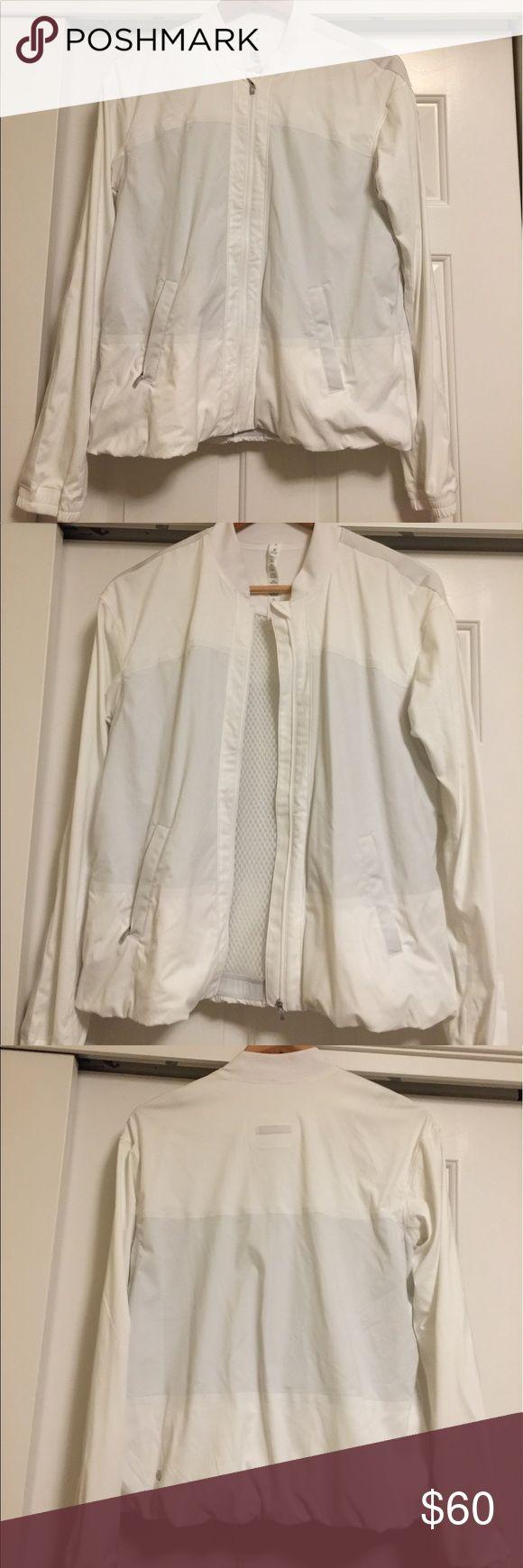 SALE Gently used Lululemon white zip up jacket sz8 Gently used white lululemon zip up jacket size 8 lululemon athletica Jackets & Coats Utility Jackets
