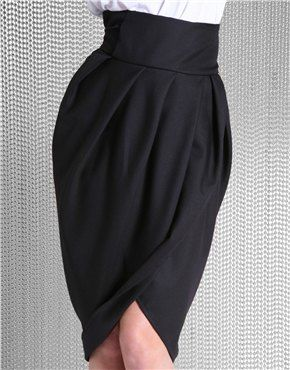 17 Best ideas about Tulip Skirt on Pinterest | Slit skirt, Black ...