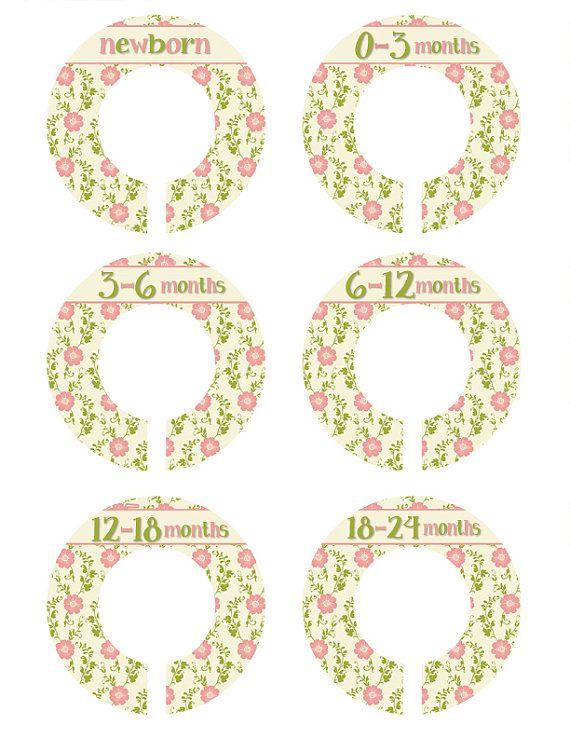 6 Closet Dividers, Victorian Flower Closet Organizers, New Mom Gift , Antique Closet Dividers, Closet Organizers Nursery Organizers (336N)