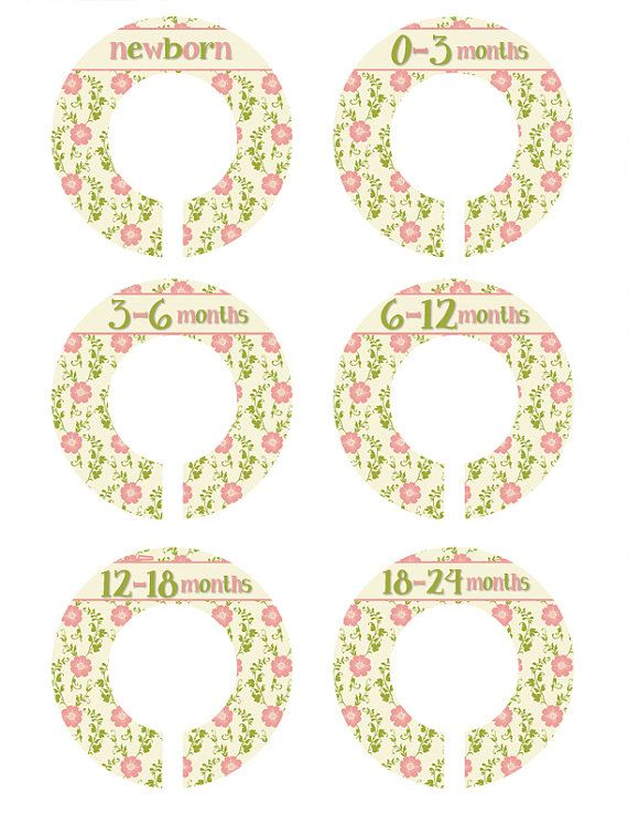 6 Closet Dividers, Victorian Flower Closet Organizers, New Mom Gift , Antique Closet Dividers, Closet Organizers Nursery Organizers (336N)
