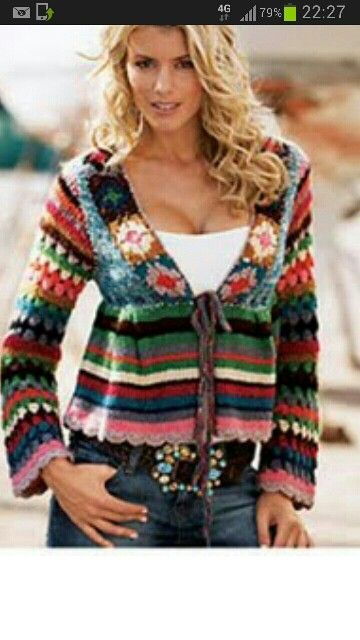 Crochet sweater left overs