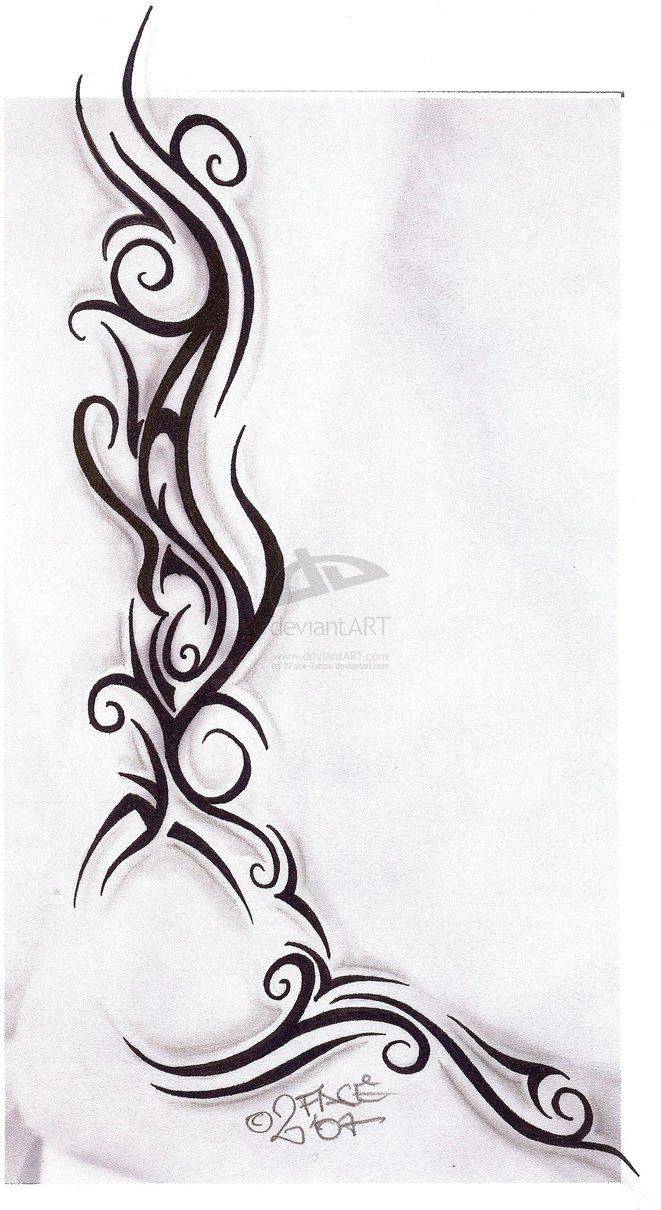 Tattooflash Tribal Design Nice by 2Face-Tattoo - Stylendesigns.com!