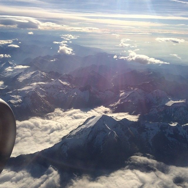 Swiss Alps from above #travel