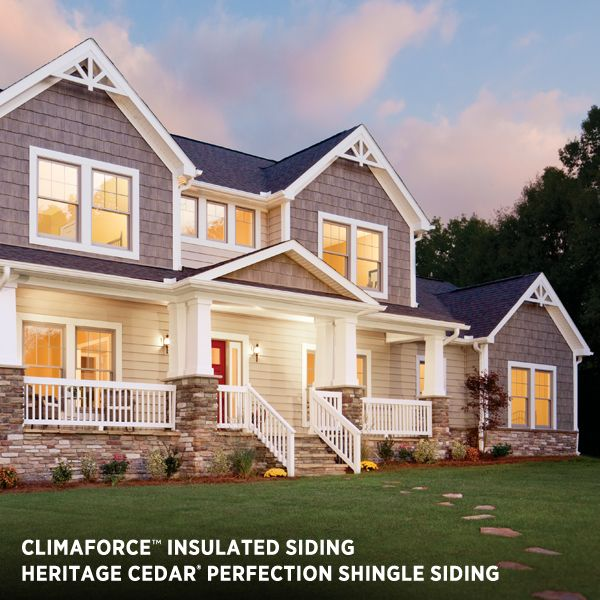 Siding Exterior Climaforce Insulated From Variform Offers Advanced All Weather Protection Options In 2018 Pinterest Vinyl