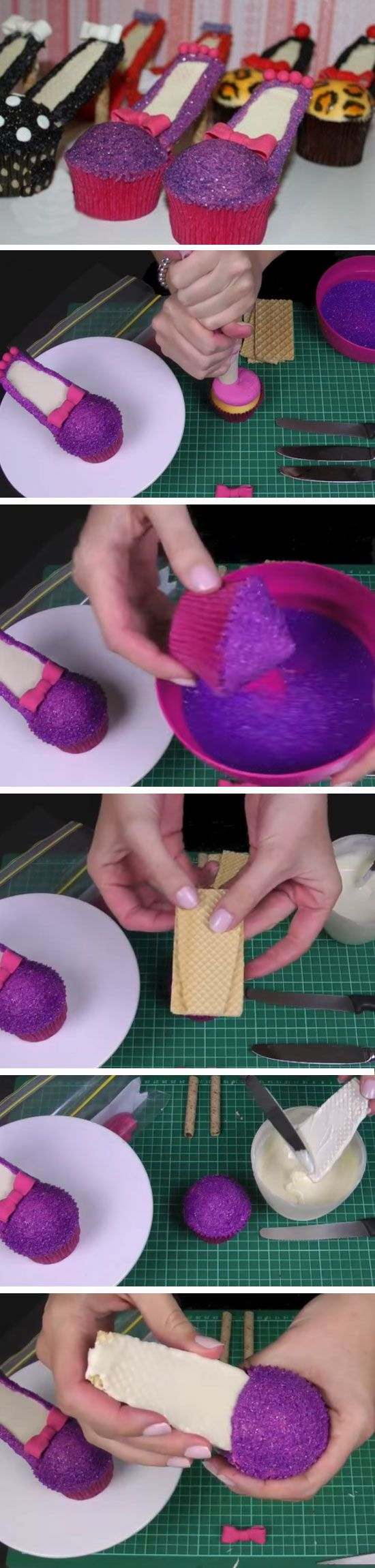 Stiletto Cupcakes   DIY Mothers Day Cupcakes Ideas for Kids to Make