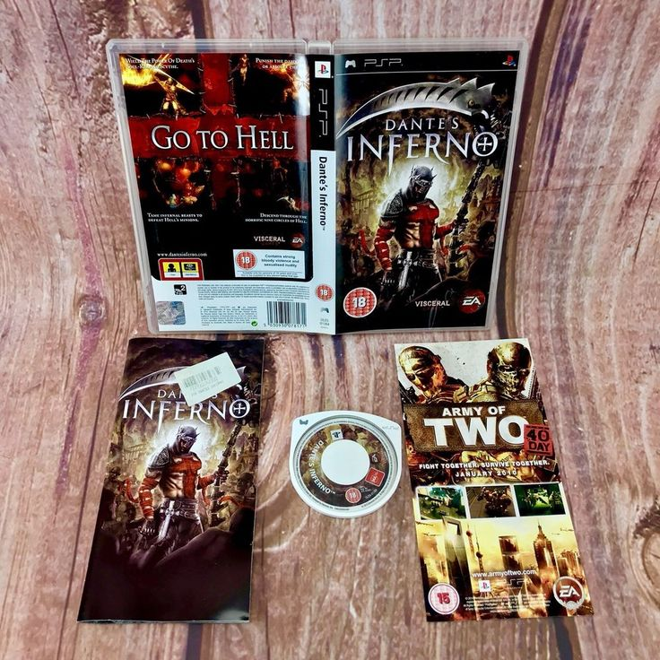 Sony PSP DANTE'S INFERNO go to hell! Video Game Complete Present Gift 🎁 18+