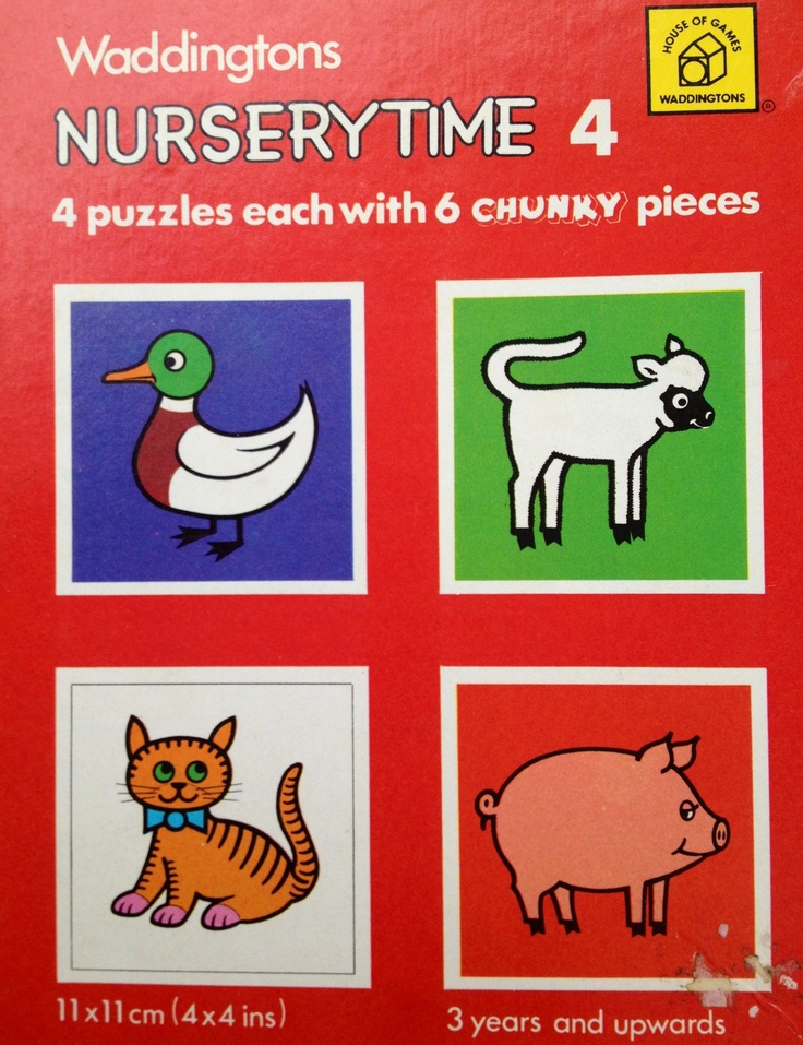1977 Waddingtons NurseryTime Puzzles