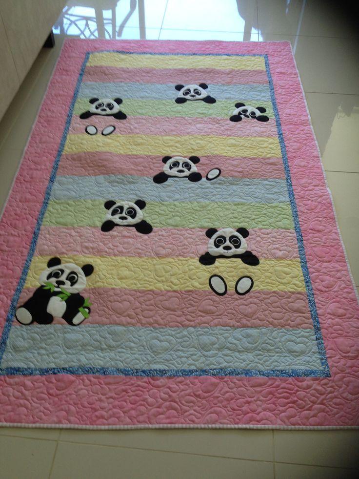 Panda quilt for Grace