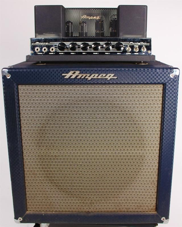 Ampeg Portaflex B-15n Fliptop Bass Amplifier 1960's Blue Check