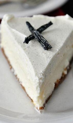 Vanilla Bean White Chocolate Mousse Cheesecake Recipe