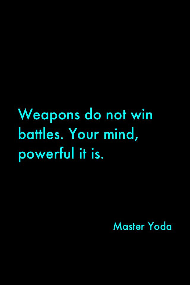 I know this is a Star wars Quote but its applicable in real life! Many often miss the mental aspect of self defence. Despite learning various moves they cower in fear and inaction. Train your mind as you train for body for self defence. Train well lads and ladies!