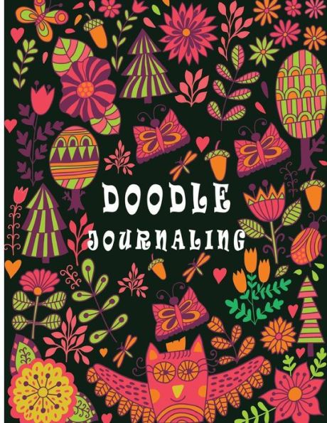 Daily Journal Unlined: 8.5 x 11, 120 Unlined Blank Pages For Unguided Doodling, Drawing, Sketching & Writing