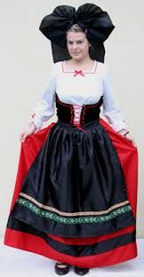 traditional french clothing from alsace -