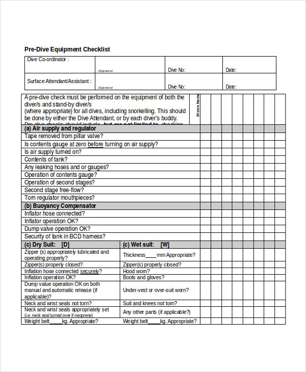 Checklist Templates 37+ Free Printable Word, Excel  PDF