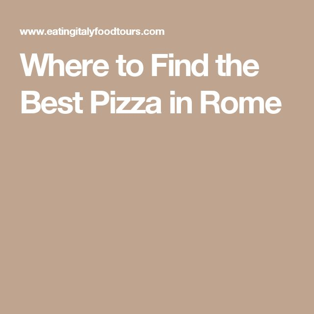 //best pizza in rome