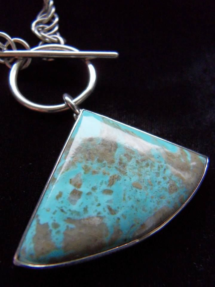 Handcrafted Turquoise pendant and chain by Chasing Destiny Silver