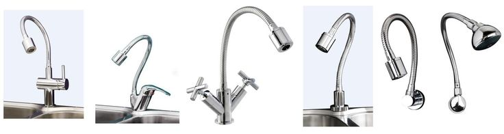 Dan Elle Cobra Flex Pin Lever Sink Mixer, Helena Cobra Flex Solid Handle Sink Mixer, Sabine Cobra Flex Cross Handle Sink, Twinner Sabine Cobra Flex Hob Spout, Sabine Cobra Flex Wall Spout, 'UFO' shower head with Cobra Flex shower arm and deluxe wall elbow from Bathrooms and Kitchens Builders Express Underwood, website www.bathroomsnkitchens.com.au