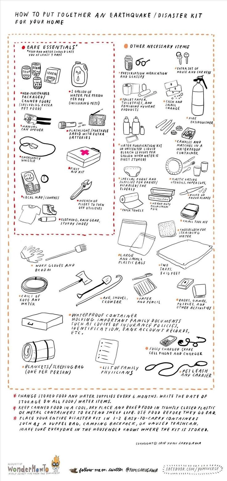 How to Prepare an Emergency Survival Kit for Earthquakes & Other Natural Disasters « The Secret Yumiverse :: WonderHowTo
