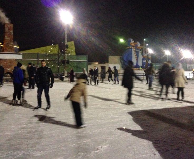 Ice skating in Riga