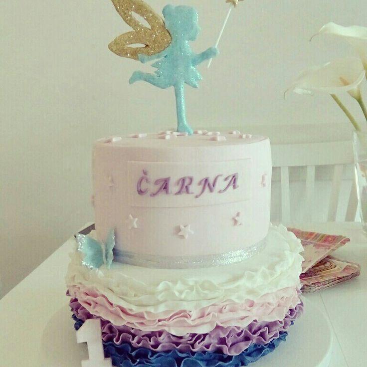 Thinkerbell topper birthday cake