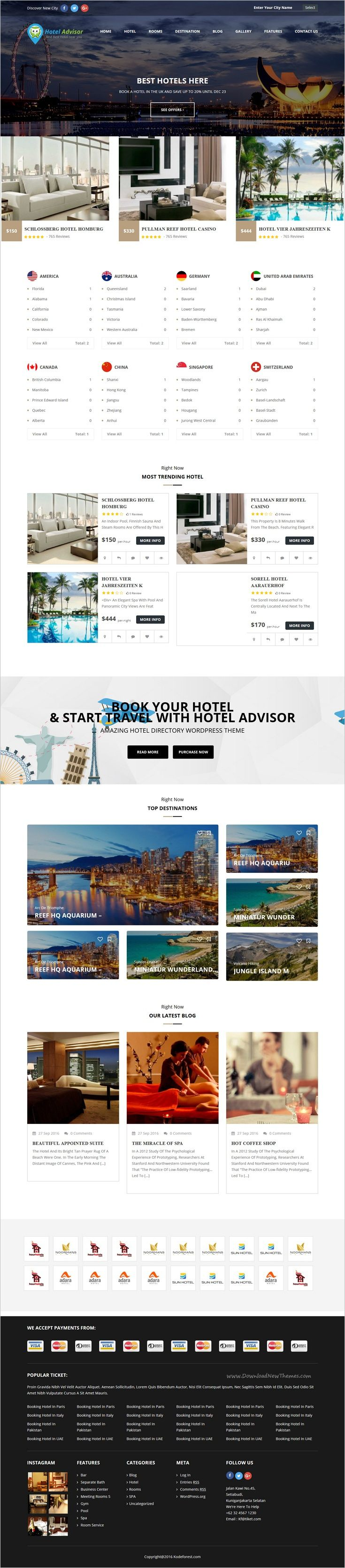 Hotel Advisor is a clean and modern design 6 in 1 #WordPress theme to manage #hotels, hostels, resorts, rooms reservation with in depth review and #booking management system #website download now➩  https://themeforest.net/item/hotel-advisor-hotel-management-and-booking-wordpress-theme/18435488?ref=Datasata