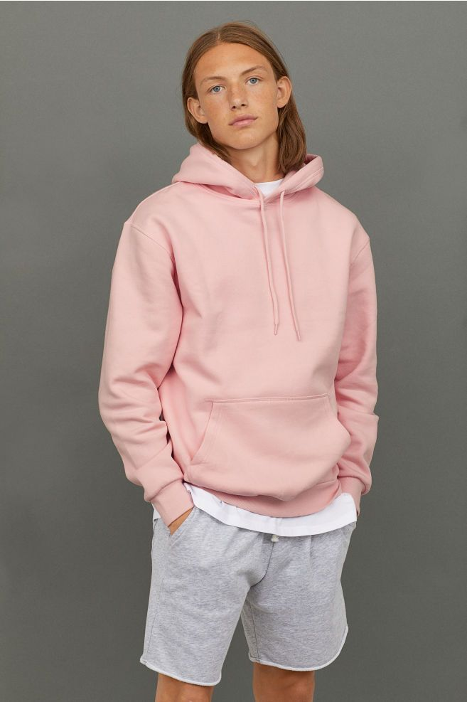 Hoodie - Light pink - Men | H&M US | Mens fashion sweaters, Hoodie outfit  men, Men fashion casual outfits