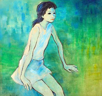 """Nyai"" by Jeihan, Medium: oil on canvas, Size: 90cm x 95cm, Year: 1981"