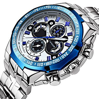 Masculino+Relógio+Esportivo+/+Relógio+Elegante+/+Relógio+de+Moda+/+Relógio+de+Pulso+/+relógio+mecânicoAutomático+-+da+corda+–+BRL+R$+131,79