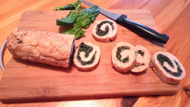 Rotolo di pollo e spinaci Chicken and spinach roll