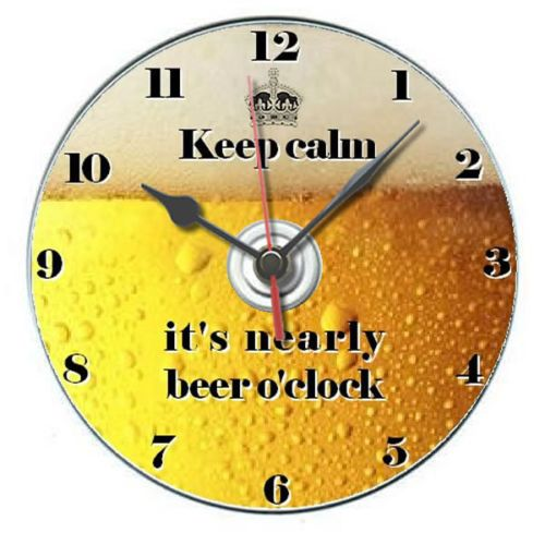 Beer o'clock secret santa novelty adult gift cd clock personalised with stand | eBay