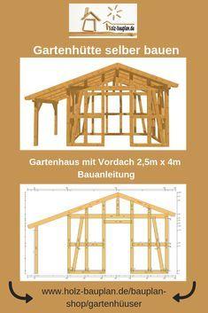 Gartenschuppen selber bauen Bauplan als PDF Gartenhaus