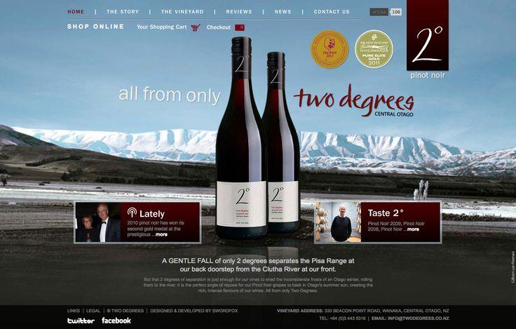 Two Degrees Vineyard website design & development